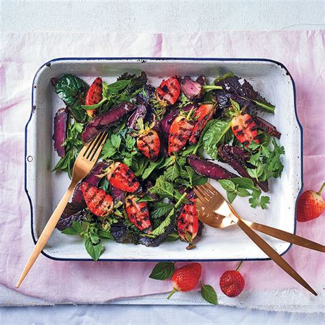 Grilled strawberry and biltong salad | Food & Home