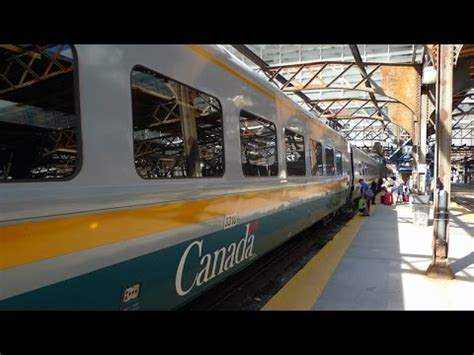 Toronto to Montreal by train with VIA Rail Canada - YouTube