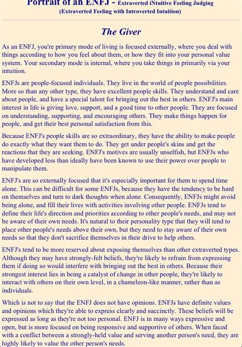 ENFJ- this is almost disconcerting how accurate it is