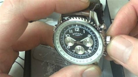 Rotary Chronospeed Leather Watch - Review - YouTube
