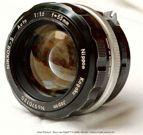 Special featured section on Nikkor 50/58mm f/1