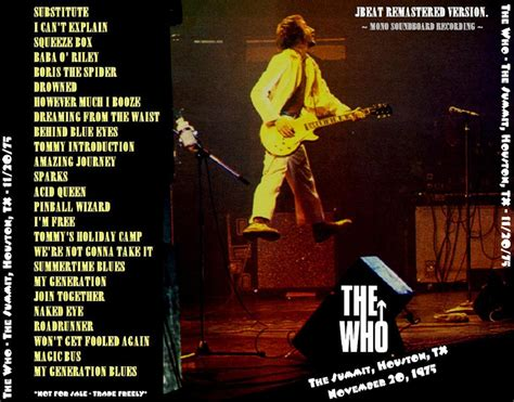 THE WHO – LIVE IN HOUSTON 1975 (JBEAT REMASTERED VERSION
