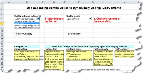 Creating Cascading Drop-Down Menus in Excel   Critical to