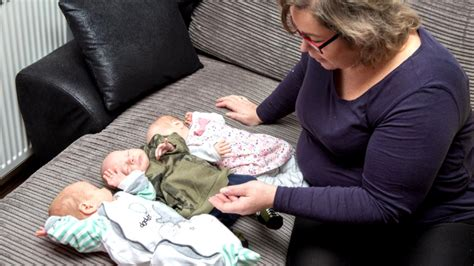 Woman Gives Birth to IVF Baby and Twins At The Same Time