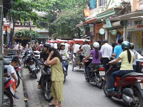 Outside our hotel room in Hanoi